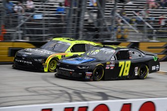 Vinnie Miller, B.J. McLeod Motorsports, Chevrolet Camaro Koolbox and Austin Cindric, Team Penske, Ford Mustang Menards/Richmond