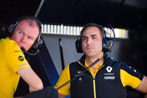 Alan Permane, Trackside Operations Director, Renault F1 Team en Cyril Abiteboul, Managing Director, Renault F1 Team