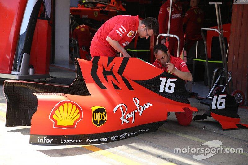 Détail technique de la Ferrari