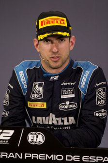 Race winner Nicholas Latifi, Dams in press conference