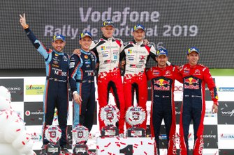 Thierry Neuville, Nicolas Gilsoul, Hyundai Motorsport Hyundai i20 Coupe WRC, Ott Tänak, Martin Järveoja, Toyota Gazoo Racing WRT Toyota Yaris WRC, Sébastien Ogier, Julien Ingrassia, Citroën World Rally Team Citroen C3 WRC