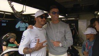 Cristiano Ronaldo e Lewis Hamilton