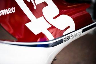 Cubierta del motor Alfa Romeo Racing C38