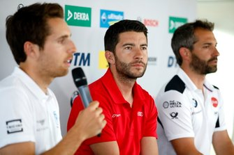 Press Conference, Daniel Juncadella, R-Motorsport, Mike Rockenfeller, Audi Sport Team Phoenix, Timo Glock, BMW Team RMG