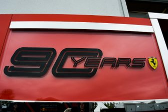 Ferrari signage celebrating 90 Years of Scuderia Ferrari