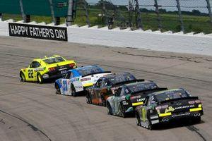 Austin Cindric, Team Penske, Ford Mustang Menards/Richmond and John Hunter Nemechek, GMS Racing, Chevrolet Camaro Allegiant