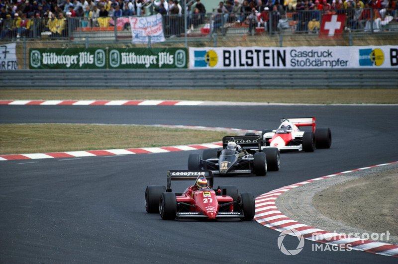 Michele Alboreto, Elio de Angelis e Alain Prost