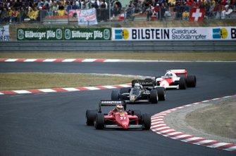 Michele Alboreto, Ferrari 156/85; Elio de Angelis, Lotus 97T; Alain Prost, McLaren MP4/2B