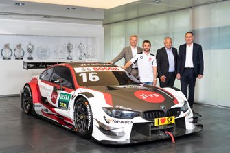 Timo Glock, BMW M4 DTM with BMW Motorsport Director Jens Marquardt, Timo Glock, Thomas Failer, Founder and CEO Data Migration Services AG, Tobias Eberle, Data Migration Services AG