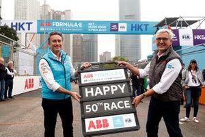 Alejandro Agag, CEO, Fórmula E y Ulrich Spiesshofer, CEO, ABB