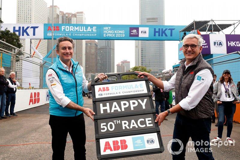 Alejandro Agag, Formula E, con Ulrich Spiesshofer, CEO, ABB