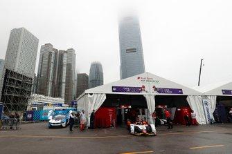 Daniel Abt, Audi Sport ABT Schaeffler, Audi e-tron FE05 exits the garage