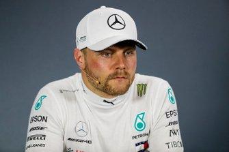 Valtteri Bottas, Mercedes AMG F1 pendant la conférence de presse