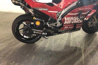 Dettaglio della carena del Team Ducati