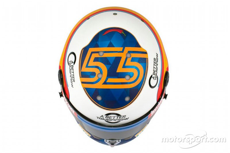 Helmet of Carlos Sainz Jr., McLaren