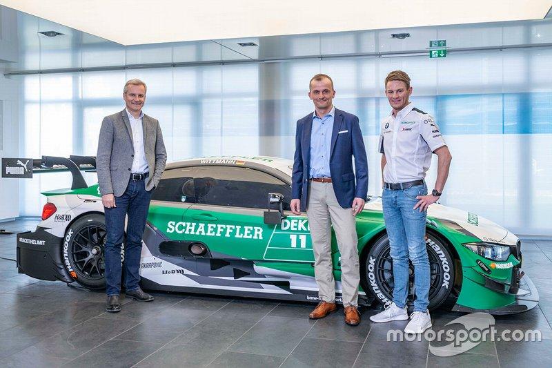 Marco Wittmann, BMW Team RMG, BMW M4 DTM, mit Jens Marquardt, und Matthias Zink
