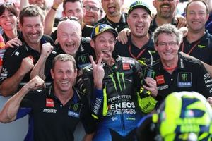 Second place Valentino Rossi, Yamaha Factory Racing Race