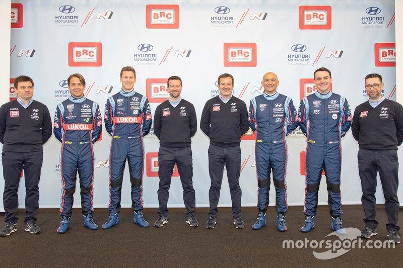 Max Maximenko, Augusto Farfus, Nick Catsburg, Gabriele Tarquini, Norbert Michelisz, Hyundai BRC Team