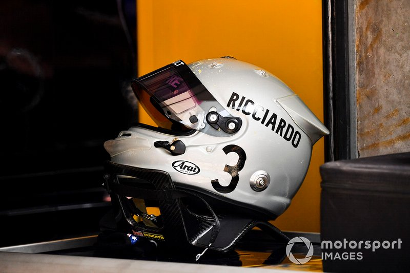 The helmet of Daniel Ricciardo, Renault F1 Team