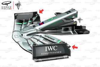 Mercedes W10 voorvleugel, GP van China