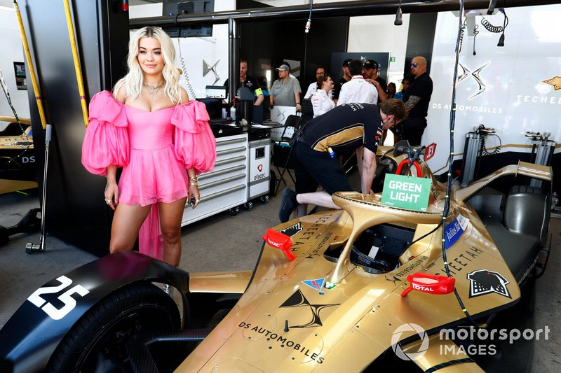 Rita Ora in the TECHEETAH garage