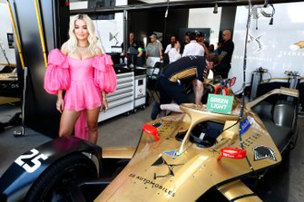 Singer Rita Ora in the TECHEETAH garage