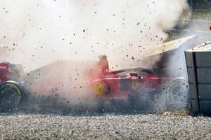 Sebastian Vettel, Ferrari SF90 crash