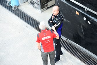 Davide Tardozzi, Team manager Ducati Team, Massimo Meregalli, Team manager Yamaha Factoy Racing
