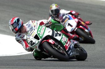 Colin Edwards, Honda; Troy Bayliss, Ducati