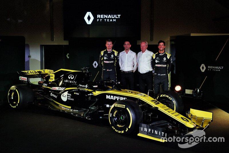 Daniel Ricciardo, Renault Sport F1 Team, Nico Hulkenberg, Renault Sport F1 Team, Cyril Abiteboul, Renault Sport F1, Jerome Stroll, presidente Renault Sport F1