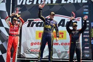 TA2 Podium finishers Tony Ave, Scott Lagassee Jr., and Rafael Matos