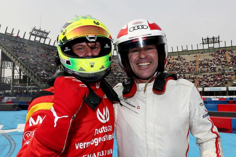 Mick Schumacher, Tom Kristensen celebrate
