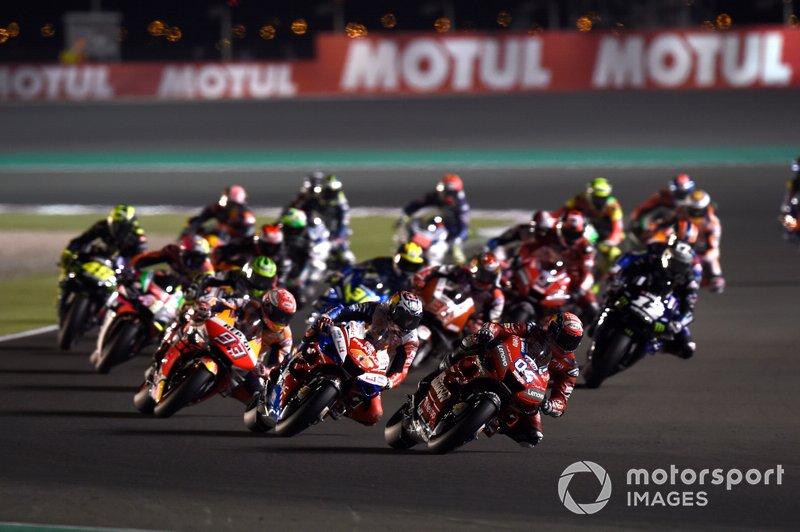 Andrea Dovizioso, Ducati Team, nel primo giro