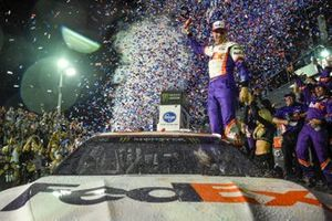 #11: Denny Hamlin, Joe Gibbs Racing, Toyota Camry FedEx Express, wins the Daytona 500