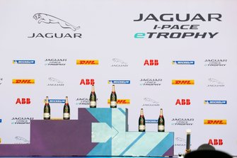 The champagne waits for the podium winners