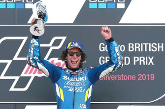 Podium: race winner Alex Rins, Team Suzuki MotoGP