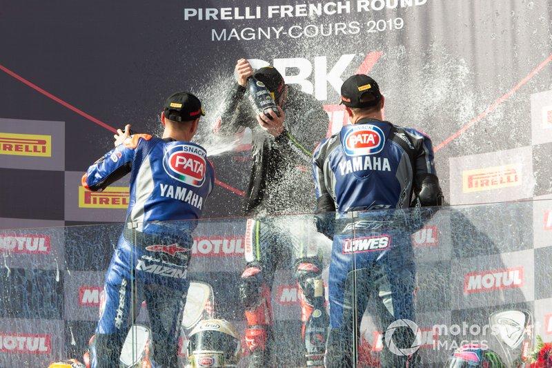Michael van der Mark, Pata Yamaha, Jonathan Rea, Kawasaki Racing Team, Alex Lowes, Pata Yamaha