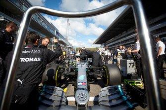 Valtteri Bottas, Mercedes AMG W10, grid