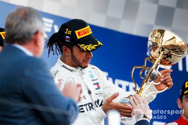En sus seis años como campeón, Hamilton logró 5 Grand Chelem (pole, victoria, vuelta rápida y liderar todas las vueltas). Uno en 2014, uno en 2015 y tres en 2017