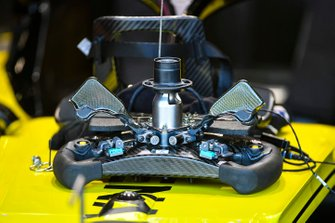 The steering wheel from the Renault R.S.19