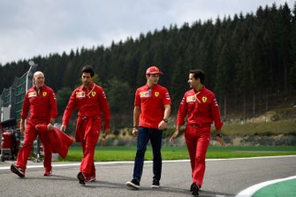 Jock Clear, Race Engineer, Ferrari, en Charles Leclerc, Ferrari