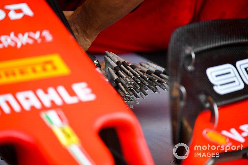 Sondas Pitot con las que Ferrari hace pruebas aerodinámicas