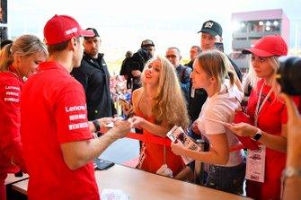 Sebastian Vettel, Ferrari, rencontre des fans