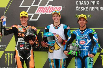 Podio: Alex Márquez, Marc VDS Racing, segundo lugar Fabio Di Giannantonio, Speed Up Racing, tercer lugar Enea Bastianini, Italtrans Racing Team.