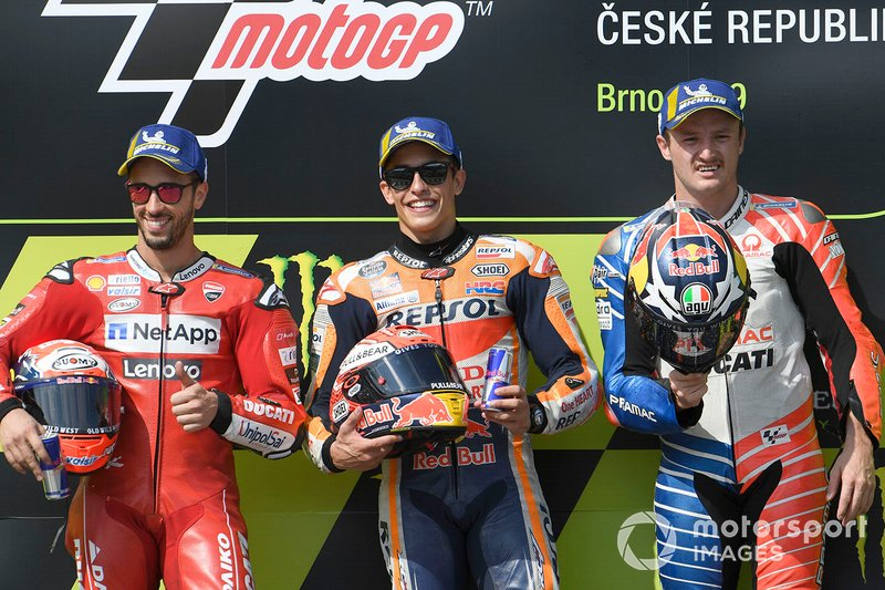 Podio: 1º Marc Márquez, 2º Andrea Dovizioso, 3º Jack Miller