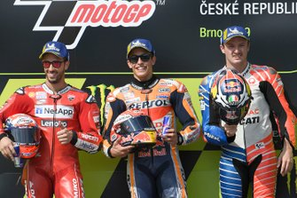 Yarış galibi Marc Marquez, Repsol Honda Team, 2. Andrea Dovizioso, Ducati Team, 3. Jack Miller, Pramac Racing