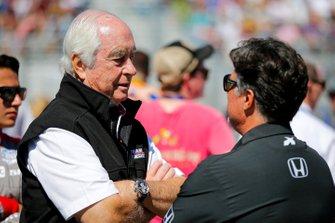 Roger Penske, Will Power, Team Penske Chevrolet, proprietario del team e Michael Andretti