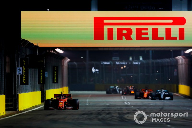 Charles Leclerc, Ferrari SF90 leads