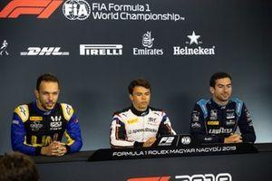 Luca Ghiotto, UNI Virtuosi Racing Nyck De Vries, ART Grand Prix and Nicholas Latifi, Dams