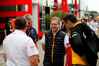 Zak Brown, Executive Director, McLaren, Otmar Szafnauer, Team Principal and CEO, Racing Point, Andreas Seidl, Team Principal, McLaren and Cyril Abiteboul, Managing Director, Renault F1 Team